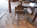 Rebar Chair with Ottoman